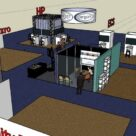 Trade Show Booth Design using Sketchup