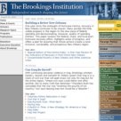 Brookings Institution Website
