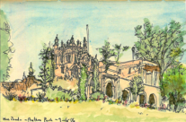 Pen and Wash Sketch of The Prado in Balboa Park, San Diego
